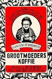 Oud Embleem Grootmoeders Koffie